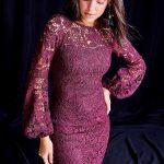 2019 Mürdüm Abiye Elbise Modelleri Kısa Uzun Kollu Dantelli