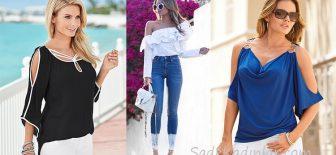 Omzu Açık Bluz Modelleri 2018 İlkbahar Yaz Moda Trendleri