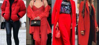 Sokak Modası 2018′ in Rengi Kırmızı Kombinler İle Şenleniyor