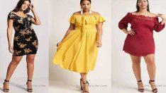 Büyük Beden Omzu Açık Abiye Elbise Modelleri 2018 – 2019 Gece Elbiseleri