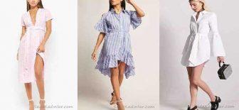 Gömlek Elbise Son Moda Şık Elbise Modelleri