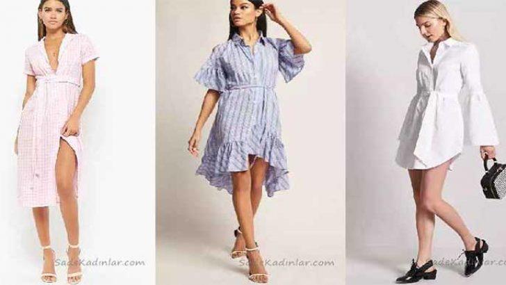 3e28dc40e386b Gömlek Elbise Son Moda Şık Elbise Modelleri | SadeKadınlar, Kıyafet ...