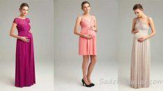 Hamile Abiye Elbise Modelleri 2018 Oleg Cassini Koleksiyonu