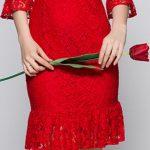 Kırmızı Elbise Modelleri Kısa Uzun Kollu Etekleri Fırfırlı