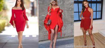 Kırmızı Elbise Modelleri Sevgiler Günü İçin Abiyeler