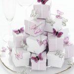 Nikah Şekeri Birbirinden Şık Modeller 2018 Beyaz Kutu Kelebek Süslemeli