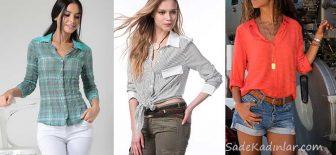 2019 Bayan Gömlek Modelleri İle Spor Kombinlere Tarz Katın