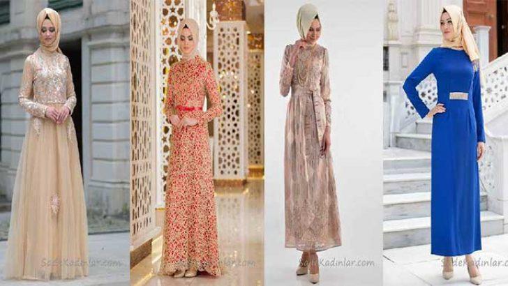 419ffccbbbf5d Tesettür Abiye Elbise Modelleri Şık ve Modern Abiyeler ...