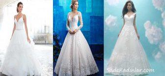 2018 Prenses Gelinlik Modelleri Hayallerinizi Süsleyen Gelinlikler
