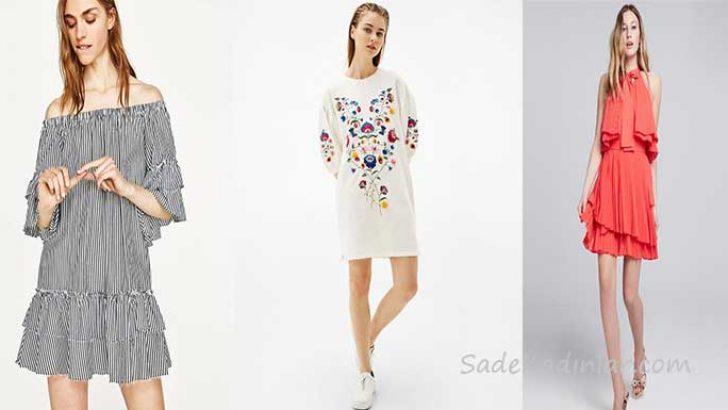 2018 Yazlık Kısa Elbise Modelleri: Kadınların Vazgeçilmezi
