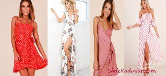 Kruvaze Elbise Modelleri Güzelliğinize Şıklık Katıyor!