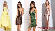 Saten Elbise Modelleri İle Özel Davetlere İpeksi Bir Dokunuş