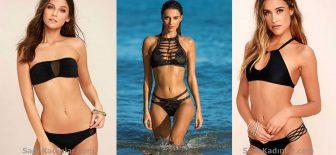 2018 Siyah Bikini Modelleri İle Kumsalların Tozunu Attıracaksınız!
