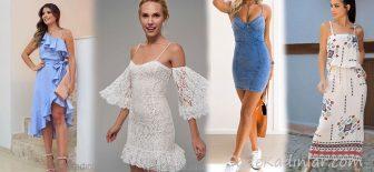 2018 Askılı Elbise Modelleri Yaz İçin Şık Günlük Elbiseler