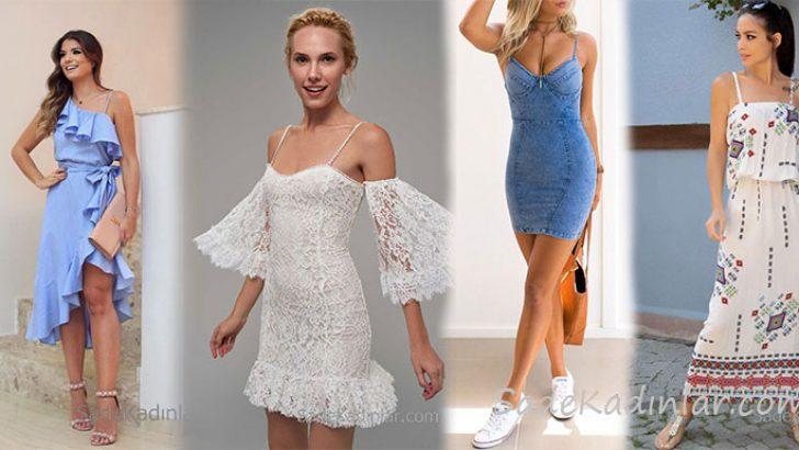 320337f3273c9 2019 Yazlık Askılı Elbise Modelleri İle Şık Günlük Kıyafetler ...