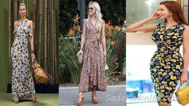 2018 Basma Elbise Modelleri Geçmişten Günümüze Son Moda Çiçekli Elbiseler
