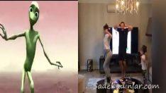 Demet Akalın ve Eşi Okan Kurt'dan Uzaylı Dansı!
