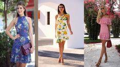 Desenli Elbise Birbirinden Şık ve Güzel Yazlık Elbiseler