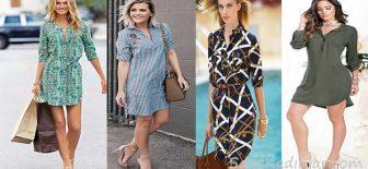 2018 Gömlek Elbise Yazın Sıcağında Rahat Ve Şık Elbiseler