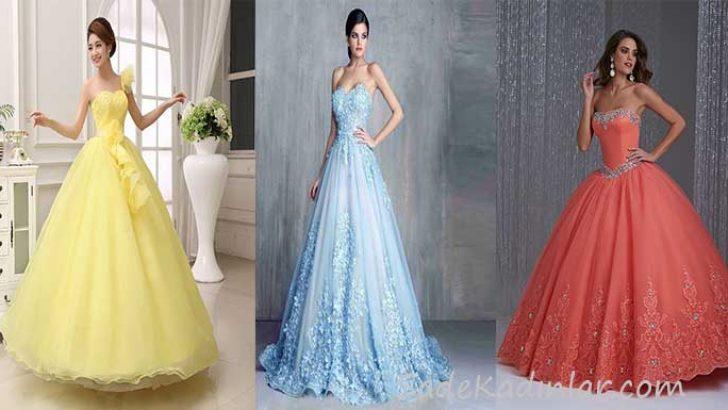 Prenses Model Abiye Nişan ve Düğünlerin Şık Elbiseleri 2019