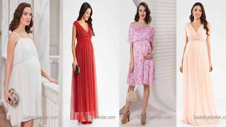 2018 Hamile Abiye Elbise Anne Adayları İçin Özel Tasarlanmış Abiyeler