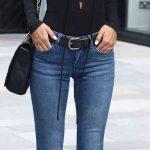 2019 Spor Kombinler Mavi Pantolon Siyah Uzun Kollu Bağcıklı Bluz