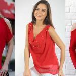 2020 Kırmızı Bluz Modelleri İle Stilinize Renk Katın!