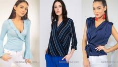 2018 Kruvaze Bluz Modelleri İle Kombinlerinize Şık Bir Hava Katın!
