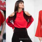 2020 Kırmızı Bluz Modelleri İle Özgün Stilinize Renk Katın!