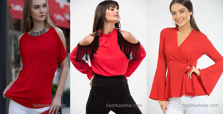 2018 Kırmızı Bluz Modelleri İle Özgün Stilinize Renk Katın!