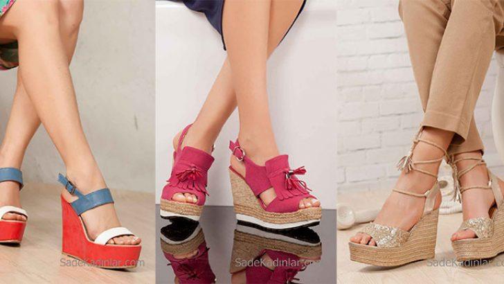 Dolgu Topuk Ayakkabı Modelleri Son Moda Şık Tasarım Ayakkabılar