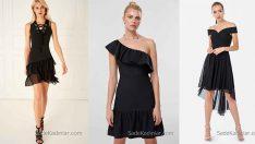 2018 Siyah Kısa Elbise Modelleri Moda Trendlerinin Yine Vazgeçilmezi