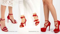 2018 Kırmızı Topuklu Ayakkabı Modelleri Çekici ve İddialı Bayanların Tercihi