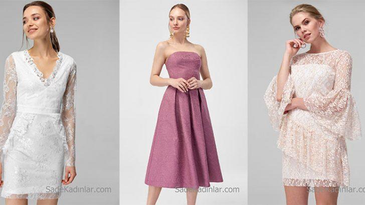 2019 Dantel Elbise Modelleri Şık 1 Görünüm İsteyenler İçin