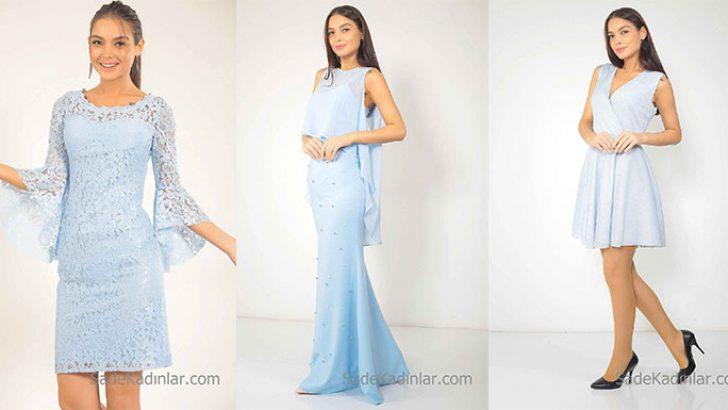 2018 Bebe Mavisi Elbise En Şık Uzun Kısa Mavi Elbise Modelleri