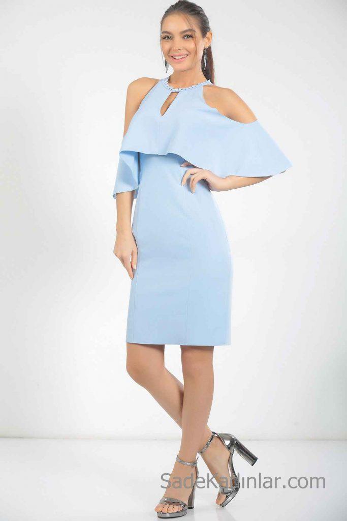 7bc0536838cd5 En Güzel 2019 Bebe Mavisi Abiye Elbise Modelleri | SadeKadınlar ...