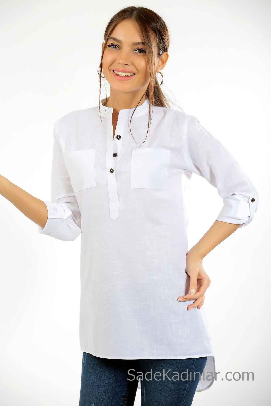 2019 Beyaz Gömlek Trendi