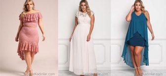2018 Büyük Beden Abiye Elbise Modelleri Modern Şık ve Gözalıcı