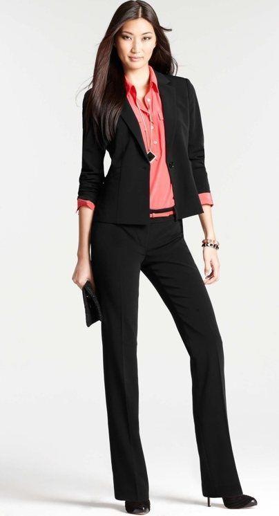 Ofis Şıklığı, Bayan Pantolon Ceket Takım Elbise Ofis Kombinleri