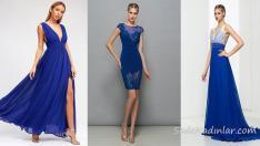 2018 Saks Mavi Elbise Modelleri İle Davetlerde Yıldız Gibi Parıl Parıl Parlayacaksınız!