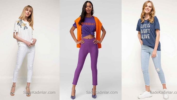 2018 Skinny Pantolon Modelleri Fit Görünmeyi Seven Bayanların Tercihi