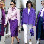 Sokak Modası Eflatun Kıyafet Kombinleri