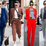 Sokak Modası Kadın Takım Elbise Ofis Şıklığı