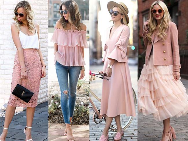 Sokak Modası Pembe Elbise ve Kombinler
