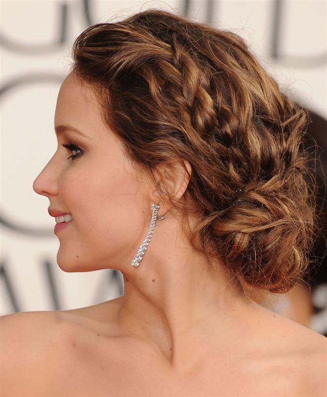 Örgü Saç Modelleri Saç Stillerinde Her Zaman Moda Jennifer Lavrence