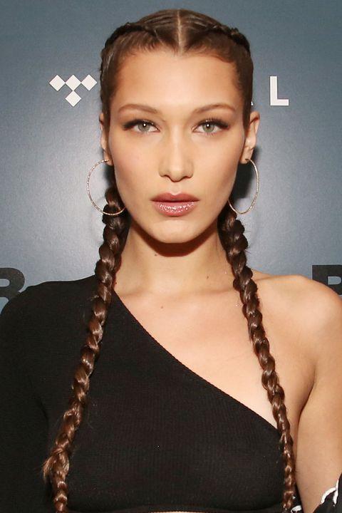 Örgü Saç Modelleri Saç Stillerinde Her Zaman Moda Bella Hadid