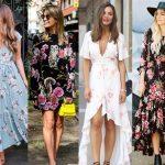 2020 Yaz Modası: Çiçekli Elbise ve Kıyafet Kombinleri