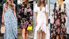 2019 Yaz Modası: Çiçek Desenli Elbise ve Kıyafet Kombinleri