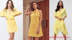 2018 Sarı Elbise Modelleri İle Güneş Gibi Işıl Işıl Parlayacaksınız!