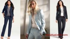 2018 Ofis Şıklığı, Bayan Pantolon Ceket Takım Elbise Ofis Kombinleri